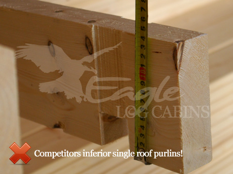 Log Cabin Roof Purlins